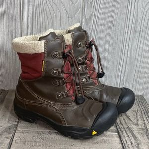Keen Leather Shearling Lace Up Winter Boots 5